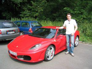 emotiondrive Kunde beim Ferrari fahren
