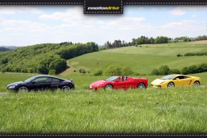 emotiondrive Fuhrpark: Audi R8, Ferrari F430 und Lamborghini Gallardo