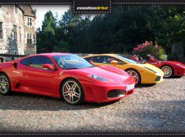 emotiondrive Fuhrpark: Ferrari F430 + Lamborghini Gallardo + Ferrari 360 Spider