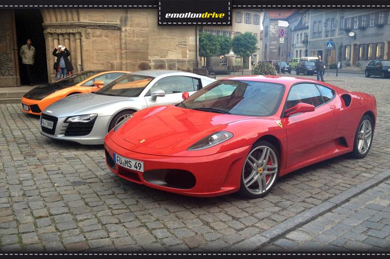 DRIVE - EAT- TALK mit Lamborghini, Ferrari und Audi R8